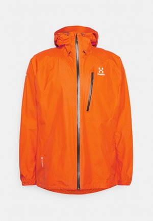 JACKET MEN - Hardshell jacket - flame orange
