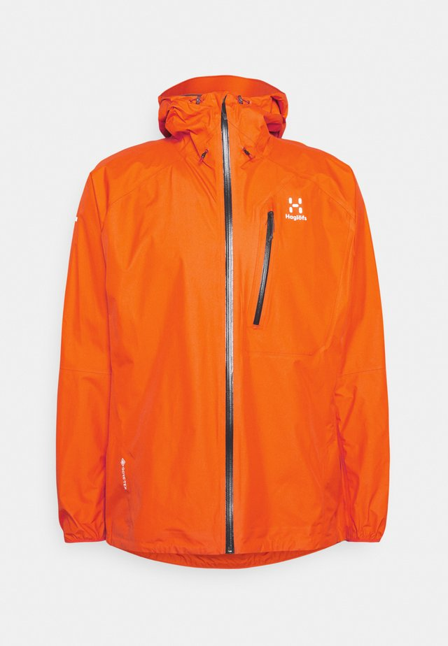 JACKET MEN - Veste Hardshell - flame orange