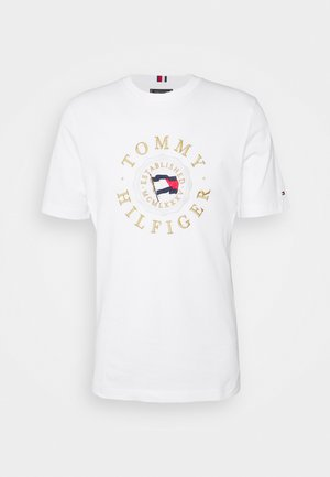 ICON COIN TEE - T-shirt z nadrukiem - white