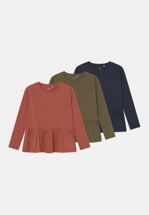 NKFVIDAISY BOXY 3 PACK - Long sleeved top - etruscan red