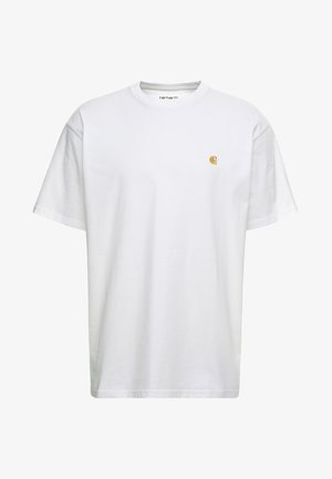 CHASE  - Basic T-shirt - white/gold