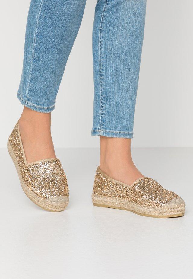 Espadrilles - glitter oro