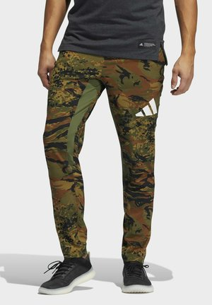 3 BAR CAMOUFLAGE DESIGNED4TRAINING PANTS - Pantalon de survêtement - green