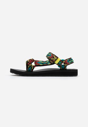 ORIGINAL UNIVERSAL WOMENS - Walking sandals - yellow/red/green