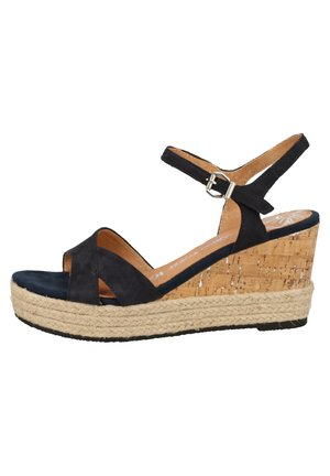 MARCO TOZZI SANDALEN - High heeled sandals - navy 805