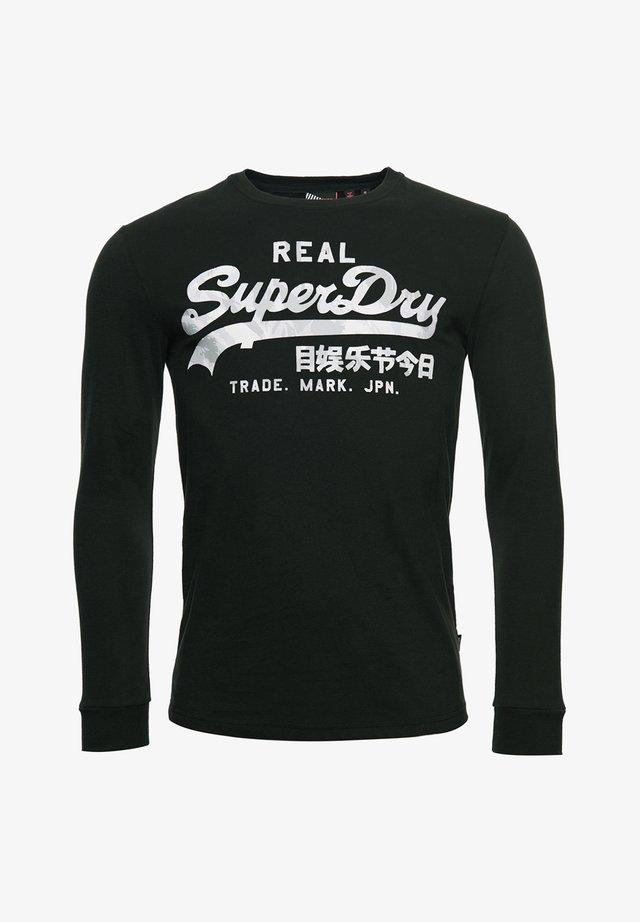 VINTAGE LOGO INFILL - T-shirt à manches longues - black