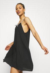 Calvin Klein Swimwear - LOGO TIES DRESS - Nightie - black - 3