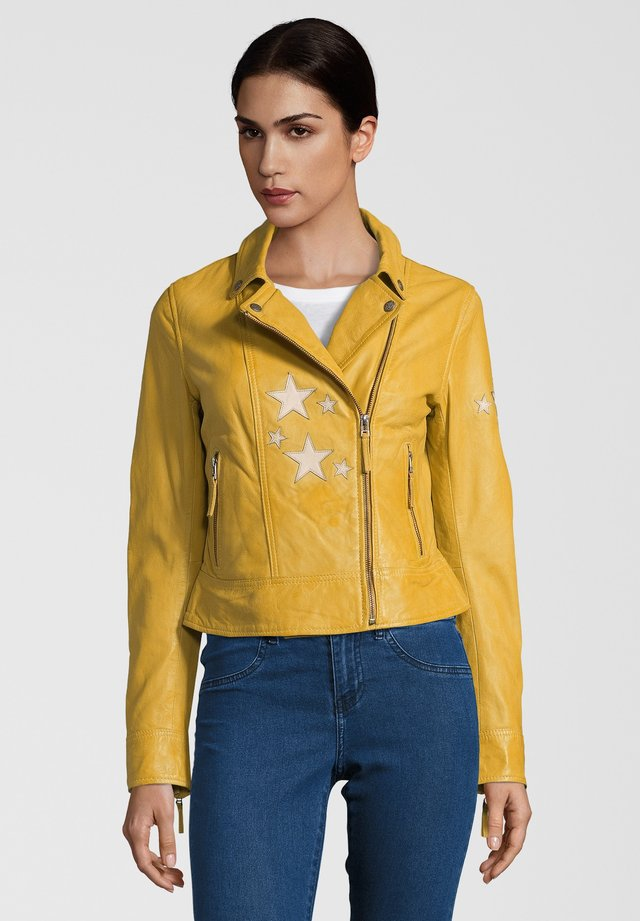 LEDERJACKE CAKE - Leather jacket - yellow