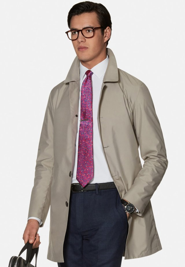 SLIM FIT GOWER - Classic coat - stone
