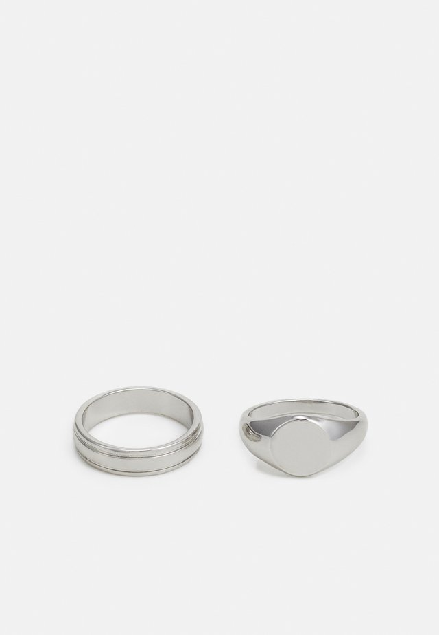 SIGNET 2 PACK - Ring - silver-coloured