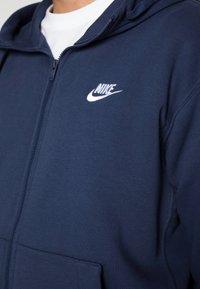 Nike Sportswear - CLUB HOODIE - Sweatjakke - midnight navy/white - 4