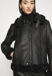 Diesel - EYRE - Leather jacket - black - 6