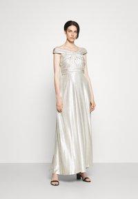 Lauren Ralph Lauren - QUINCY SLEEVELESS EVENING DRESS - Abito da sera - silver - 1