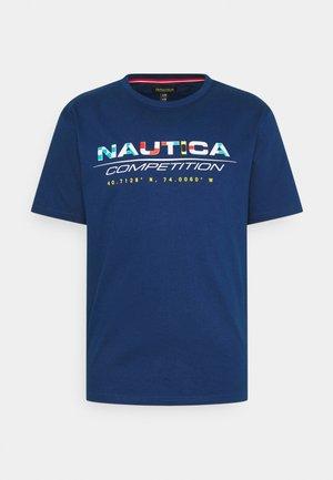 BOLLARD - Print T-shirt - navy