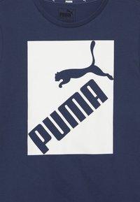 Puma - BIG LOGO TEE - T-shirt print - dark denim - 3