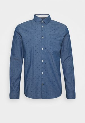 FITTED PRINTED GEOMETRIC - Shirt - blue navy
