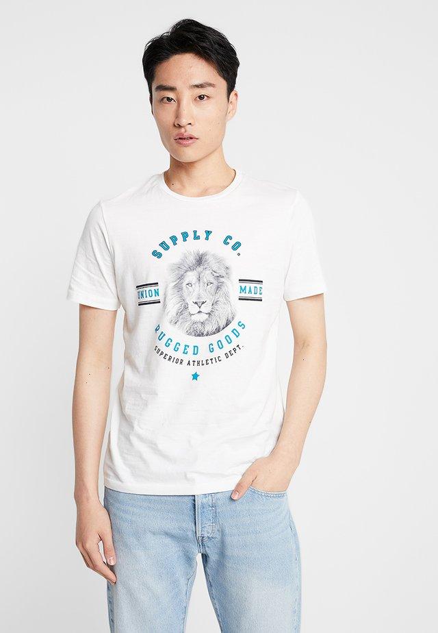PKTAUK WILDLIFE ANIMAL TEE  - T-shirts med print - cloud dancer
