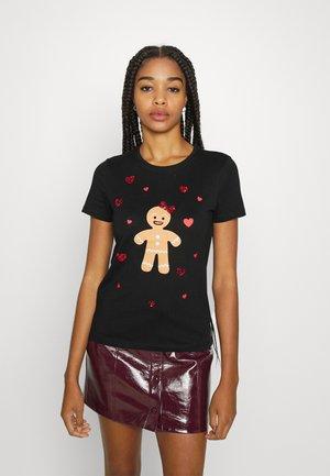 ONLXMAS CHRISTMAS - Print T-shirt - black