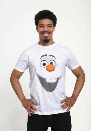DISNEY  OLAF FACE  - T-shirts print - white