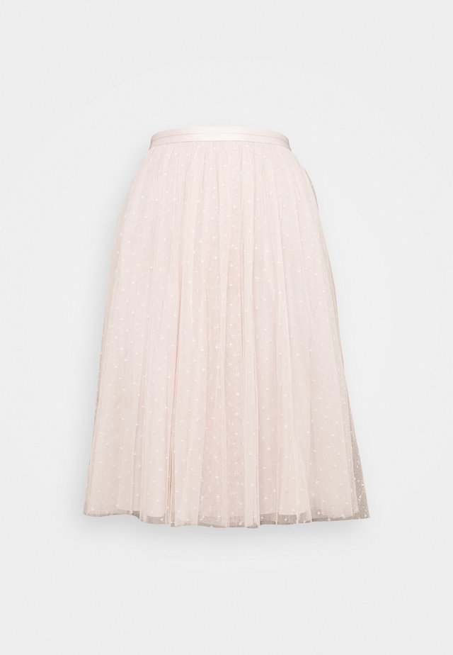 KISSES MIDI SKIRT EXCLUSIVE - Jupe trapèze - pink encore