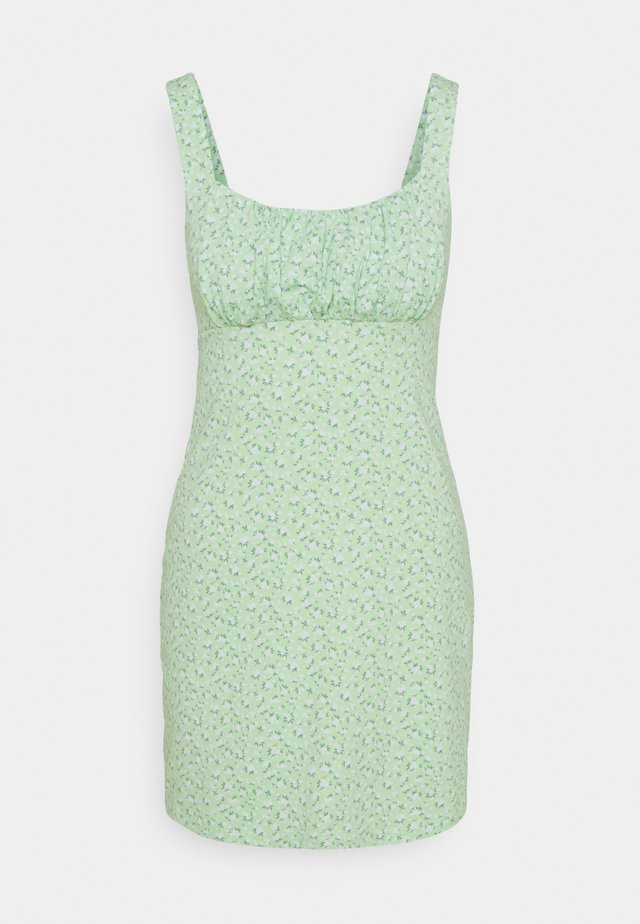 BARE DRESS - Jerseyklänning - pistachio floral