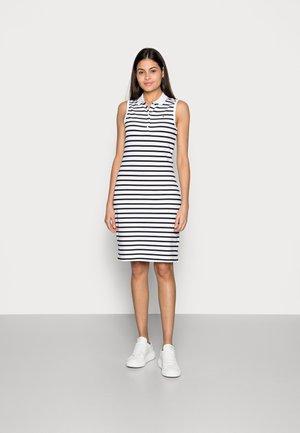 SLIM POLO DRESS - Denní šaty - blue