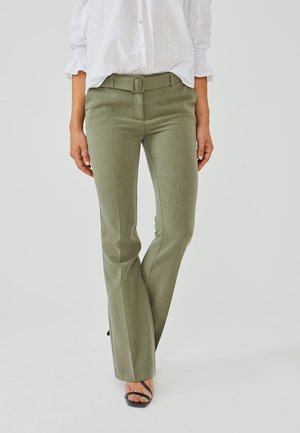 FLARENE BELT - Trousers - vertiver green