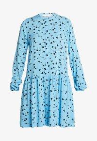 Moss Copenhagen - FRYD TURID DRESS - Shirt dress - blue/black - 4