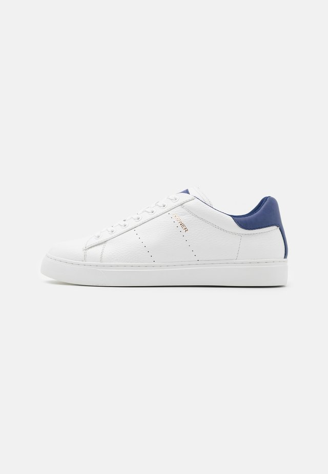 DAVID - Sneakers - white/blue