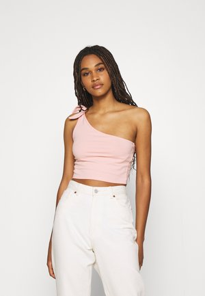 ONE SHOULDER TIE 2 PACK - Top - white/solid pink
