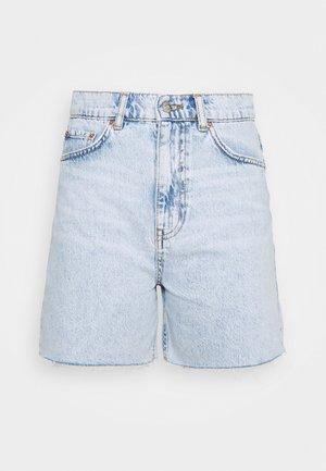 MID LONG - Denim shorts - light blue snow