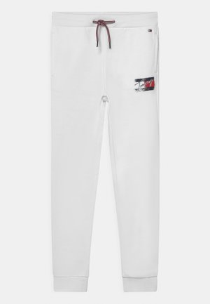 FLAG PRINT  - Tracksuit bottoms - white
