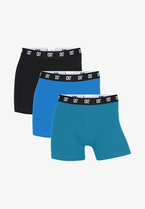 3 PACK - Boxer shorts - schwarz/türkis/blau
