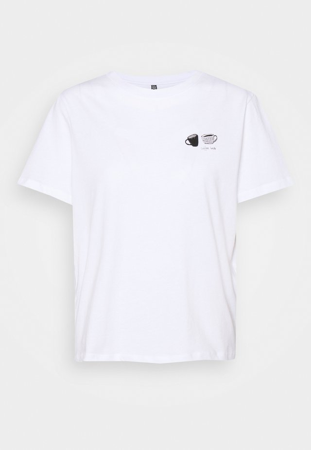 PCLIWY TEE - T-shirt print - bright white