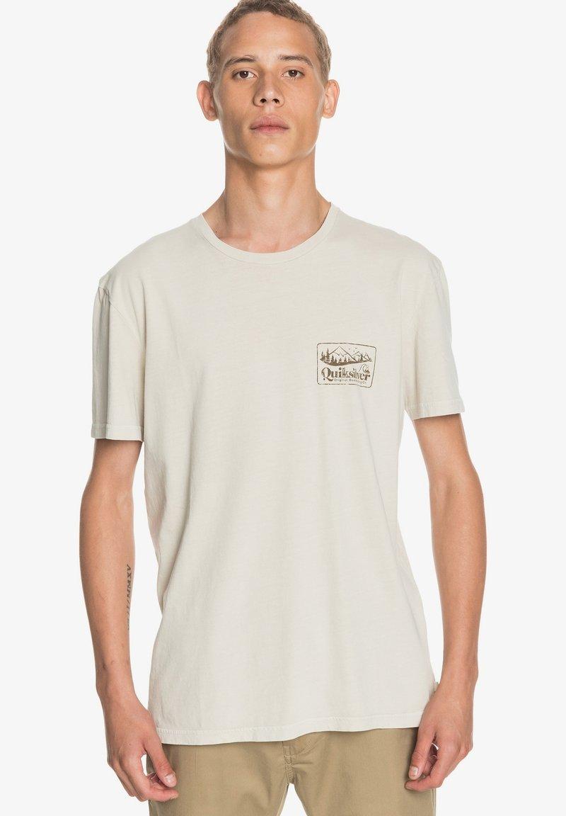 Quiksilver - OLD HABIT  - Print T-shirt - parchment