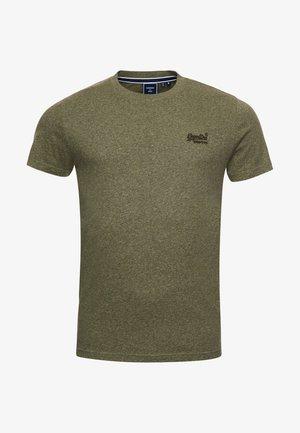 VINTAGE LOGO EMB - Basic T-shirt - hushed olive grit