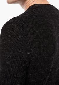 s.Oliver - MELIERTER - Pullover - black melange - 4