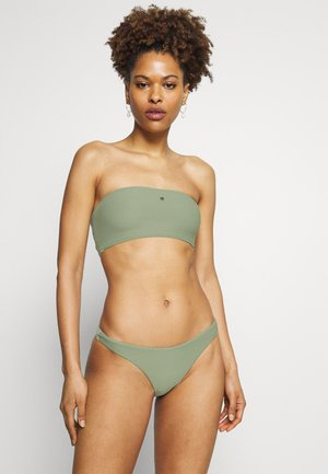 ESSENTIALS TUBE TOP HIGH CUT PANT SET - Bikini - khaki