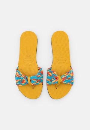 YOU TROPEZ  - T-bar sandals - mustard