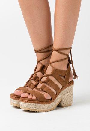 CAMBA - High heeled sandals - brown
