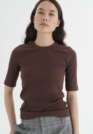 DAGNAIW - Basic T-shirt - coffee brown