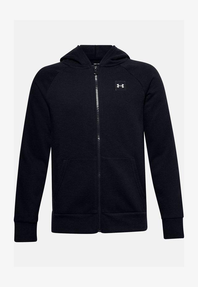 UA RIVAL - Zip-up sweatshirt - black