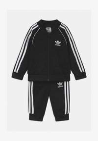 adidas Originals - SLICE TREFOIL CREW ADICOLOR ORIGINALS PULLOVER - Sportovní bunda - black/white - 0