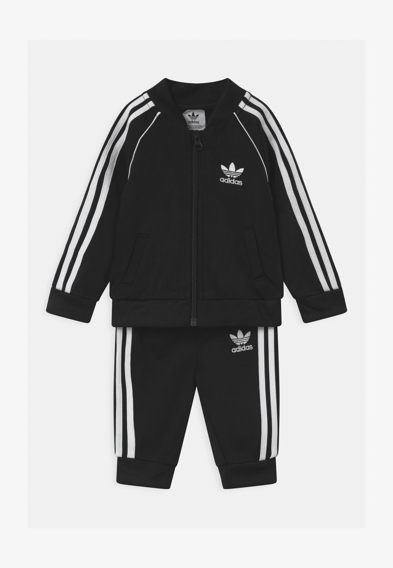 adidas Originals - SLICE TREFOIL CREW ADICOLOR ORIGINALS PULLOVER - Sportovní bunda - black/white
