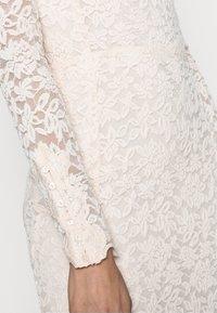 Rosemunde - LONG LACE DRESS LOW BACK LONG SLEEVE - Occasion wear - soft ivory - 4