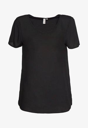 BLUSE - KURZE ÄRMEL - Basic T-shirt - black