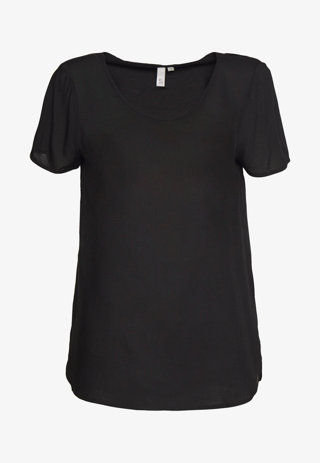 BLUSE - KURZE ÄRMEL - Basic T-shirt - black