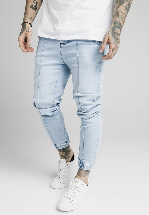 SIKSILK CUFFED - Jeansy Skinny Fit - light blue/jasnoniebieski Odzież Męska XEIX