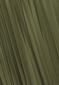 Dorothy Perkins Curve - PLEAT - A-line skirt - khaki - 2