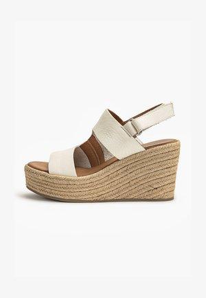 High heeled sandals - mntrl bone nbn